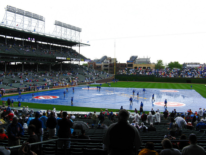 Rain delay at the Cubs game.