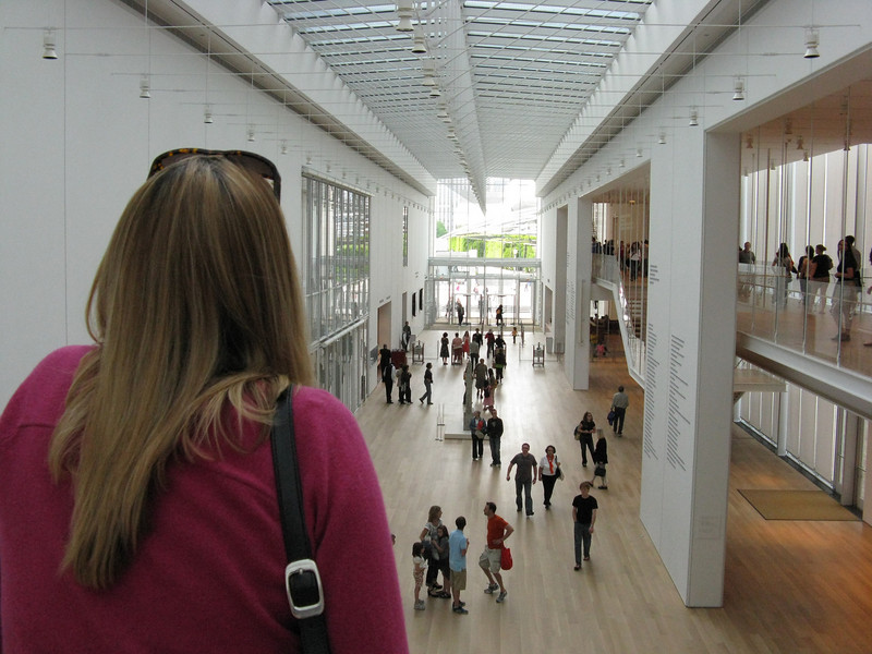 The brand new modern wing at the Art Institute.