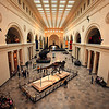 Looking down the great hall in the Field Museum. It has a fantastic collection of dinosaur fossils.