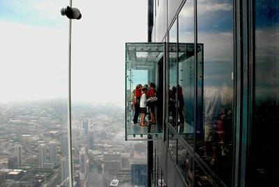 103rd floor of the Sears Tower and one of the glass observatory decks, Chicago 2010