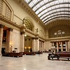 The beautiful, though not ornate, interior of Union Station.
