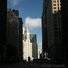 Looking up Michigan Avenue.