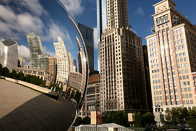 The Cloud Gate can serve as a passable fish-eye lens.