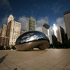 From every angle, the Cloud Gate creates a new vista to explore.