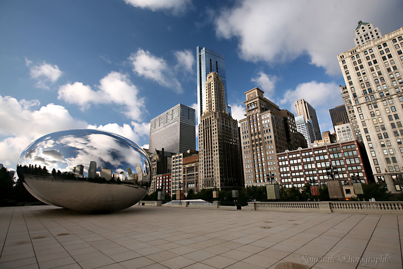 The giant silver bean sculpture, Cloud Gate, is one of my favorite lens modifiers.