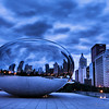 At dawn, the area around the Cloud Gate is devoid of tourists, allowing for plenty of image possibilities.