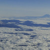 Mt. St. Helens & Adams from the air.<br /> Flying out of Portland on July the 4th.