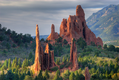 © Joseph Dougherty. All rights reserved.  Garden of the Gods at sunrise.