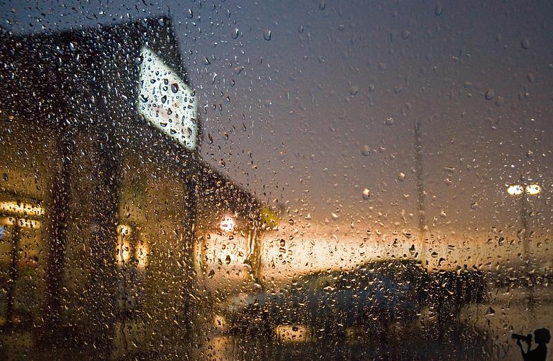 thru the rain @ a Foodmart