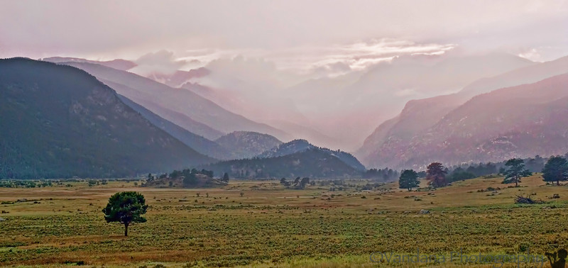 Reach Rocky Mountain National Park where it has just rained, and will again !