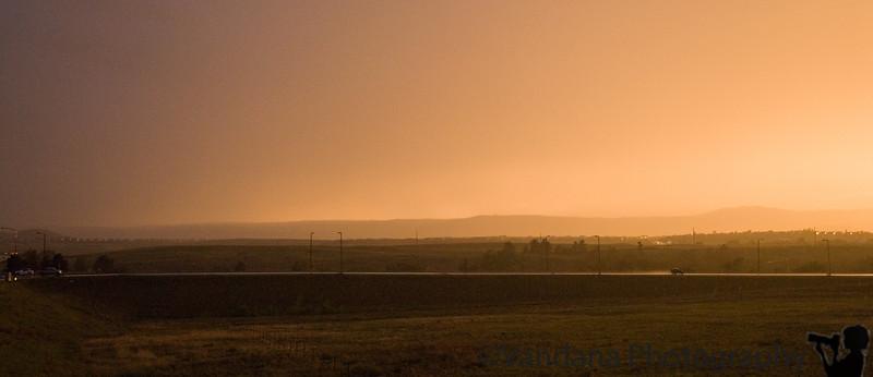 South of Estes Park, again storm, rain, lightning and strange lighting