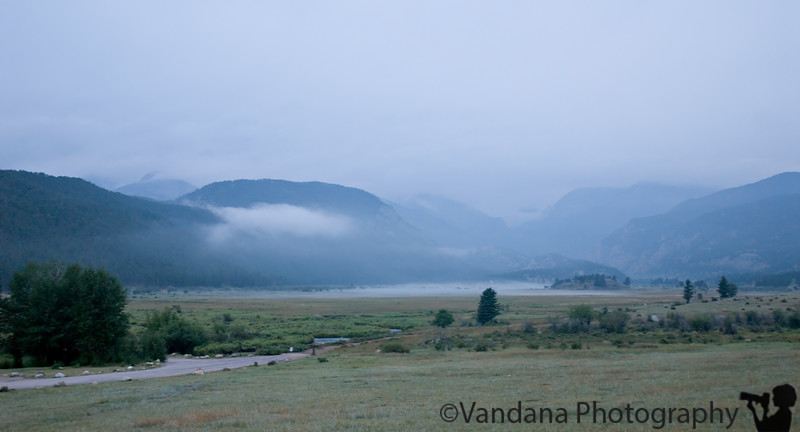 early morning - still a cloudy, foggy day @ Rocky Mountain National Park