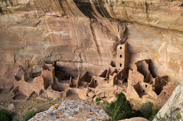 Square Tower House in Mesa Verde National Park, a UNESCO World Heritage Site, Montezuma County, Colorado, USA
