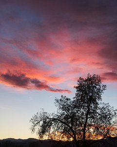 soft clouds and a colorado sunset