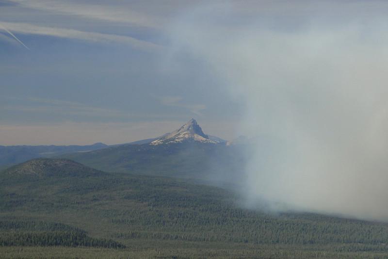 Mt. Thielsen & Forest Fire.