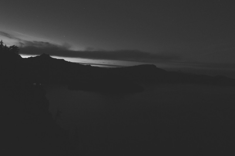 Crater Lake by night.