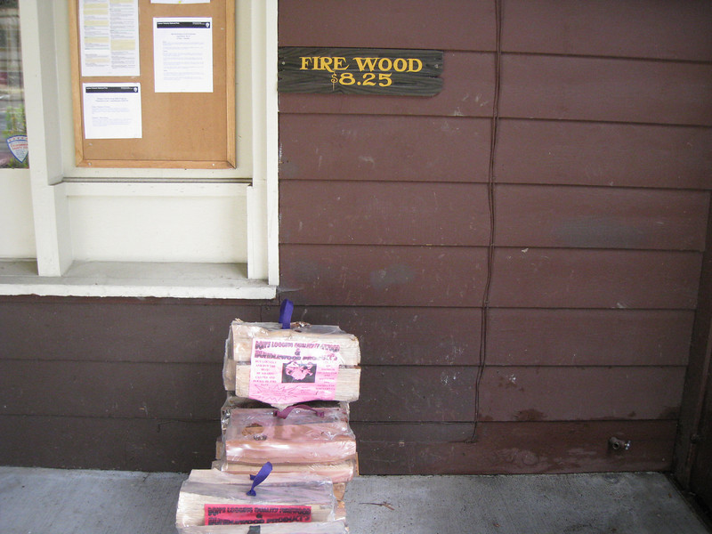 The most expensive Firewood I've ever seen! Luckily unlike many other National Parks Lassen allows you to collect wood off the forest floor within the Park. <FONT SIZE=1>© Chiyoko Meacham</FONT>