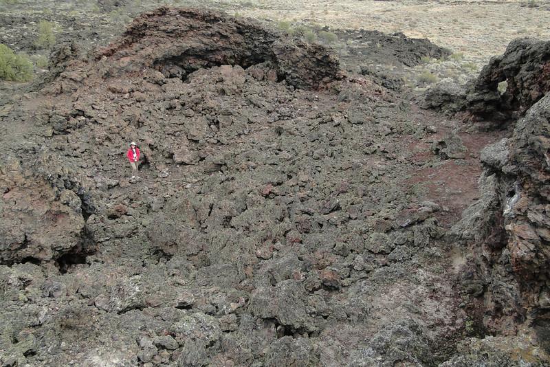 Chiyoko inside Black Crater.