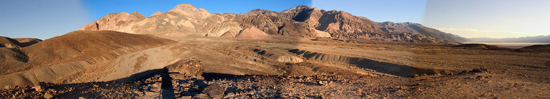 Panorama of somewhere in the north part of Death Valley National Park.