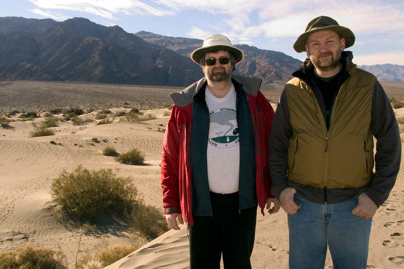 Darin and Eric on the dunes at Stovepipe Wells