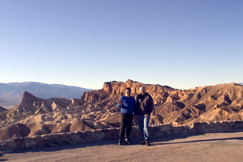 Darin and Eric at Zabriskie Point Lookout