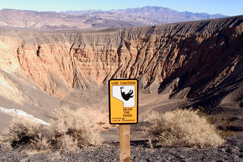 Heed the sign... it's about 500 feet more or less straight down.