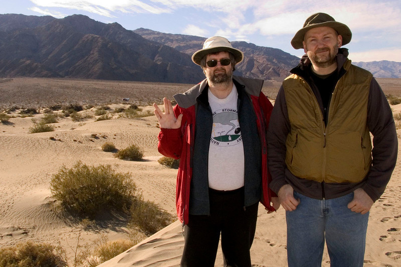 Darin and Eric on the dunes near Stovepipe Wells