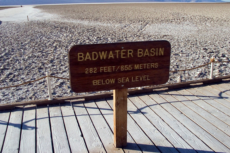 Badwater - the lowest point in North America
