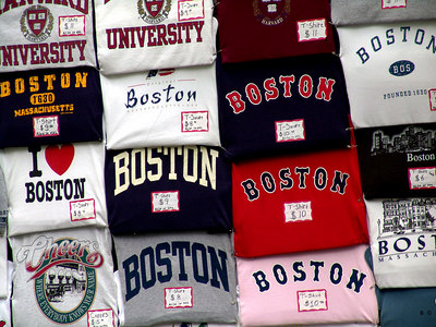 Boston T Shirt Display