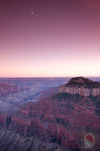 Sun set at Grand Canyon North Rim.