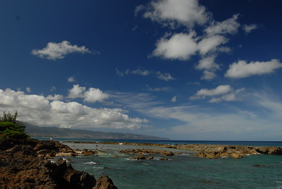 © Joseph Dougherty. All rights reserved.   Oahu, north shore.  Natural tidepool and sheltered snorkeling area.