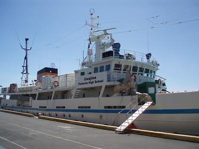 © Joseph Dougherty. All rights reserved.  Japanese fisheries training vessel  EHIME MARU.   Uwajima Fisheries High School.