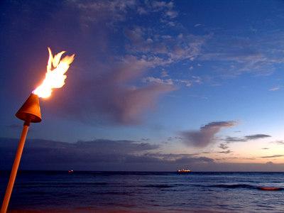 Sunset on Waikiki beach