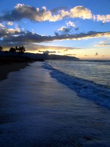 Just as the sun was setting, North Shore, Oahu