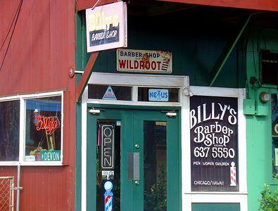 Billy's Barber Shop, Chicago/Hawaii  Haleiwa, Hawaii