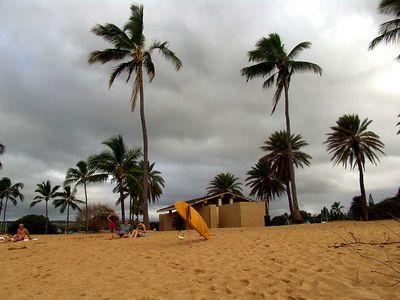 Cloudy day in Haleiwa, Hawaii