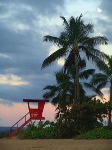 No lifeguard on duty,  Haleiwa, Hawaii