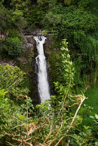 Makahiku Falls on Maui Island, Hawaii