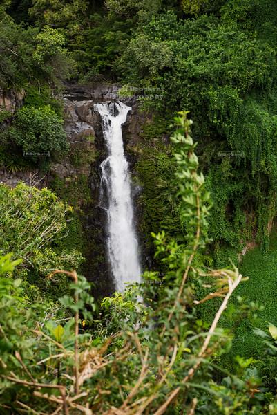 Makahiku Falls on Maui Island, Hawaii