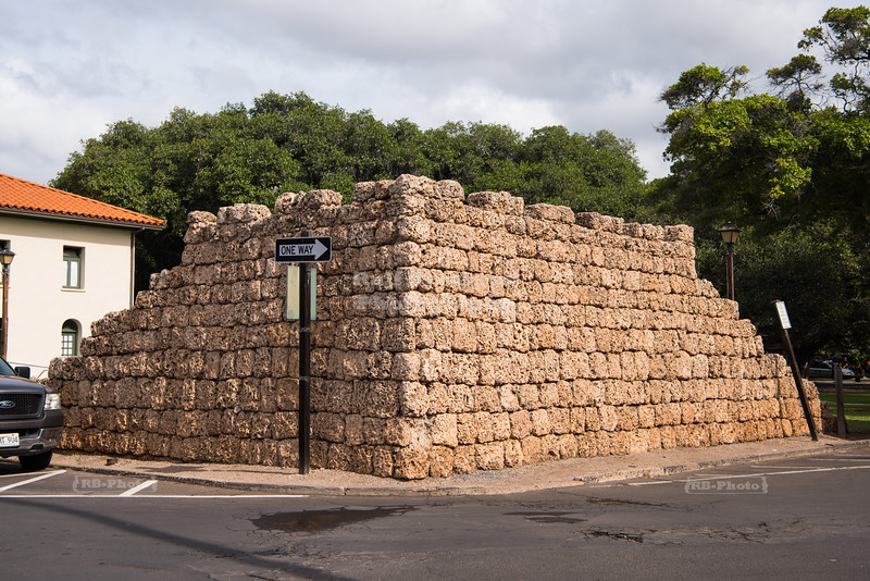 Remnants of the historic Lahaina Fort