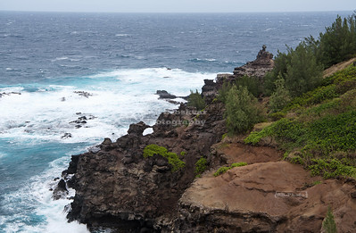 Craggy Maui coastline near Papanalahoa Point