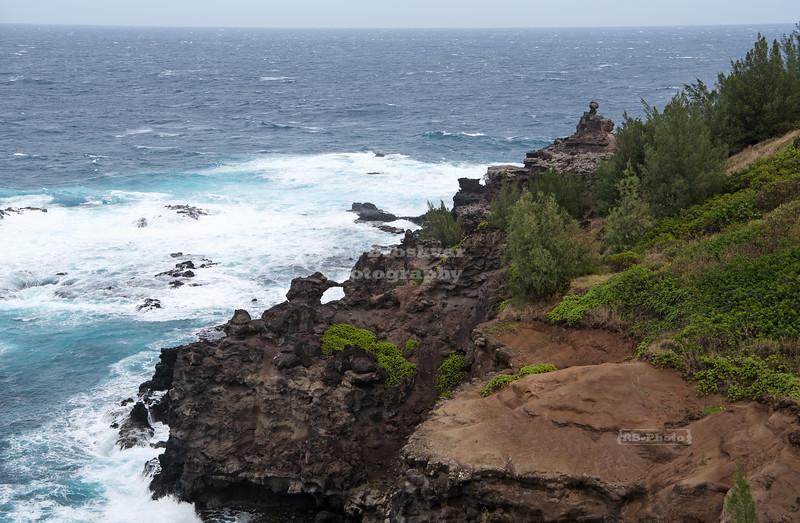 Craggy Maui coastline near Papanalahoa Point