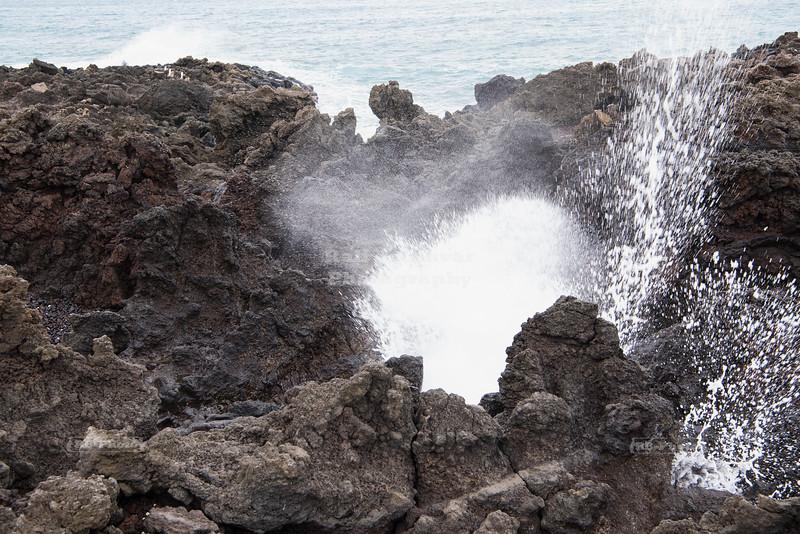 Blowhole at La Perouse Bay on Maui Island, Hawaii