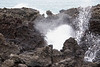 Blowhole at La Perouse Bay on Maui Island, Hawaii