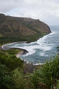 Halawa Beach on Molokai Island, Hawaii