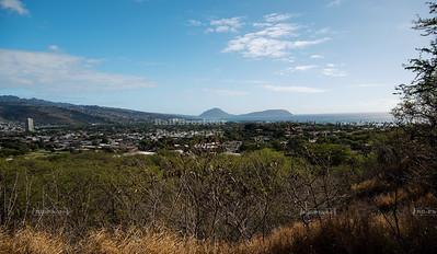 Koko Head and Koko Crater as seen from Diamond Head