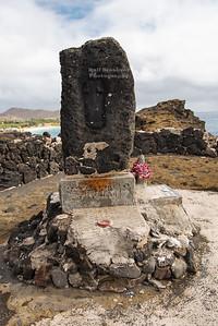 Ritual Stone near Hālona Blowhole