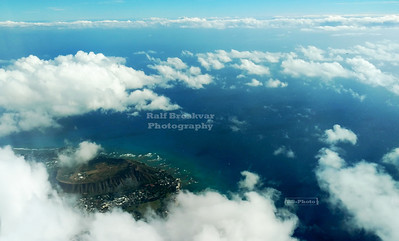 Diamond Head as seen from the air