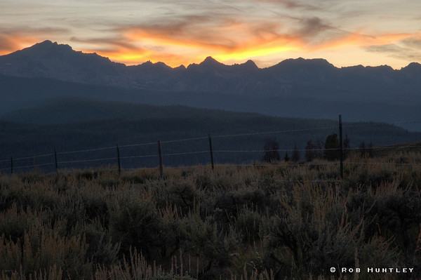 Sunset in the Sawtooth Mountains, Sawtooth National Recreation Area, Idaho. HDR © Rob Huntley
