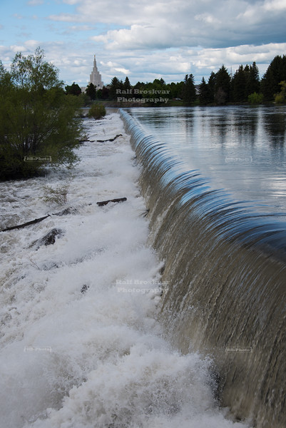 Snake river in Idaho Falls, Idaho